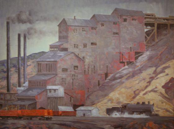 Bild: Gemälde Madrid Coal Mine, New Mexico