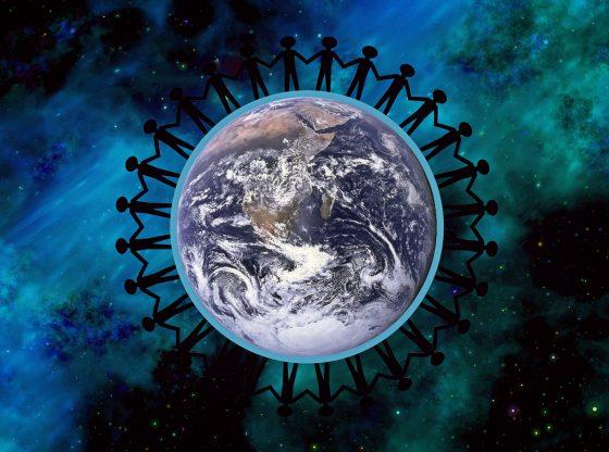 Covid und Erde (Urheber unbekannt)