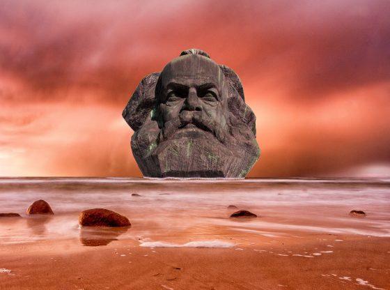 Marx Kopf am roten Mars (Urheber unbekannt)