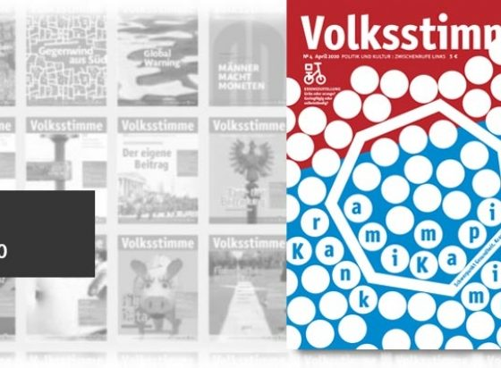 Cover VS April 2020 (Volksstimme)
