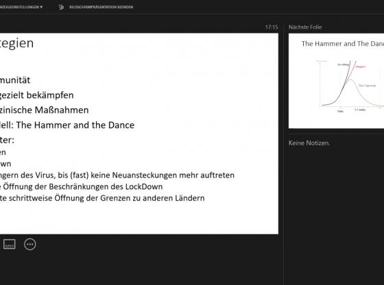 Screenshot Vortrag P. Fleissner (Rote Denkfabrik)