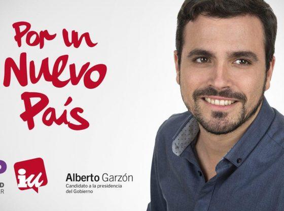 """""""Por un nuevo Pais"""" Wahlwerbung mit Alberto Garzón"""
