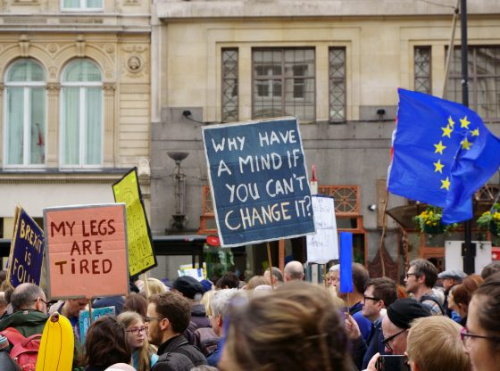 London, March 2019. Stop Brexit March. My Legs Are Tired. (Photo by Sandro Cenni on Unsplash)