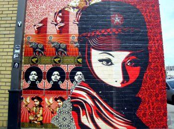 Straßenkunst von Shepard Fairey in Austin, USA CC BY 2.0, Bruce Turner, via Flickr